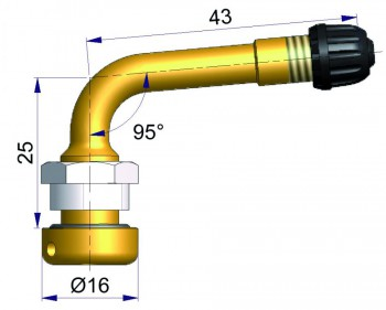 Вентиль латунный б/к  R-2021-2