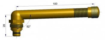 Вентиль длина 100 мм. R-0826-1