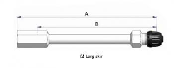 Прямой никелированный жесткий удлинитель S-4531-2