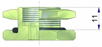 Удлинитель для металлического основания 16,5 мм. R-0965-1